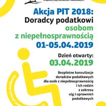 Akcji PIT 2018: Doradcy Podatkowi Osobom z Niepełnosprawnością